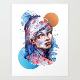 Sophia by carographic Art Print