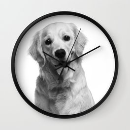 Cute Golden Retriever Wall Clock