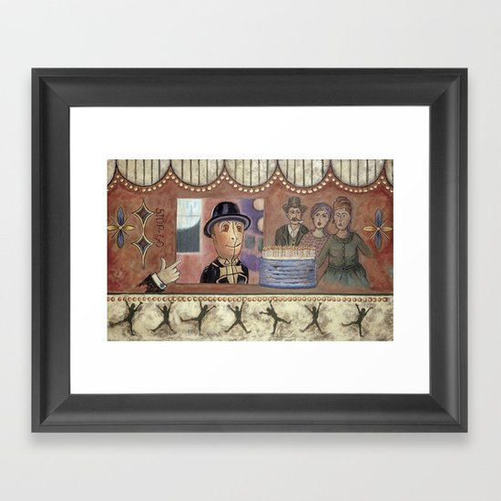 Envy and Surprise Framed Art Print
