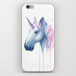 Blue Pink Unicorn iPhone Skin