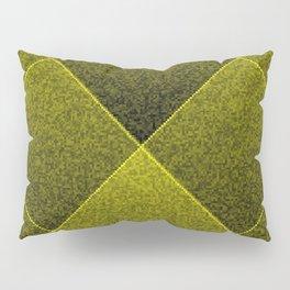 Plush Olive Green Diamond Pillow Sham