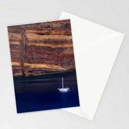 Sea boat vulcanic island Madeira Stationery Cards