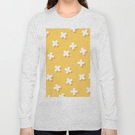 Modern Swiss Cross Yellow Long Sleeve T-shirt