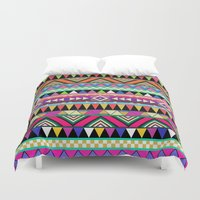 geometric Duvet Covers featuring OVERDOSE by Bianca Green