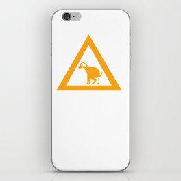 Caution Pooping Dog iPhone Skin