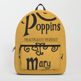 Mary Poppins poster, minimalist movie, Julie Andrews cult film, alternative affiche, Supercalifragi Backpack