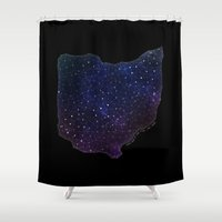 ohio Shower Curtains featuring Ohio StarStuff by Yespo Designs