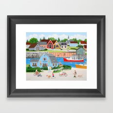 A Day with Dad Framed Art Print