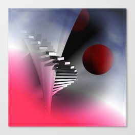go upstairs -3- Canvas Print