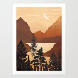 River Canyon Art Print