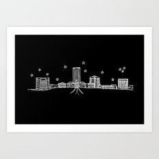 Tallahassee, Florida City Skyline Art Print