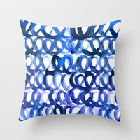 breaking Throw Pillows featuring Breaking the waves by Picomodi