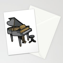 Piano Player Keyboard Organ Chamber Music Symphony Stationery Cards