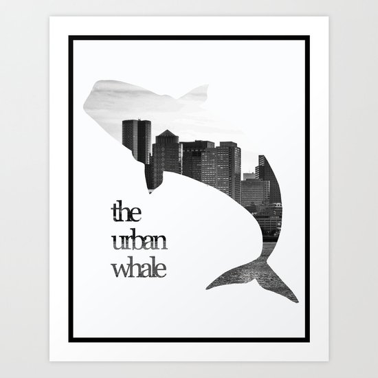 The Urban Whale Art Print