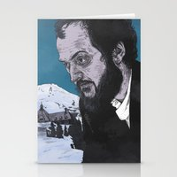 stanley kubrick Stationery Cards featuring Stanley Kubrick by Andy Christofi