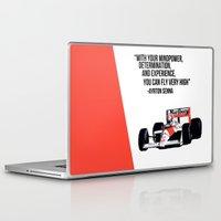 senna Laptop & iPad Skins featuring Senna Inspriation by MDBDESIGN.