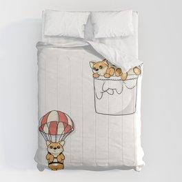Cute Pocket Shiba Inus Comforters