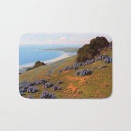 Bush Lupine and Poppies, Santa Barbara by John Marshall Gamble Bath Mat
