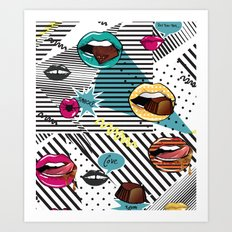 Pop Lips Art Print