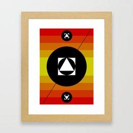Hot Lights of Symmetry Framed Art Print