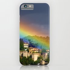 Rainbow over Dar alHorra Palace at Granada. Spain Slim Case iPhone 6s