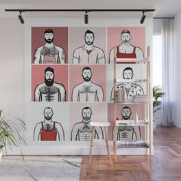 Beard Boy: Valentine Boys Wall Mural
