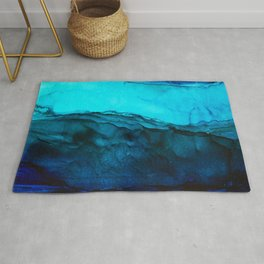 Blue Abstract Seascape Rug