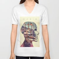 oasis V-neck T-shirts featuring Oasis by Rik Labe