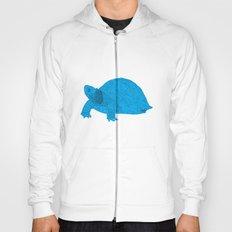 Turtle Illustration Blue Hoody