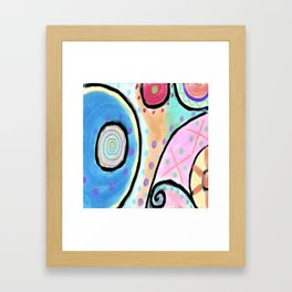 Colorful Abstract Digital Painting Framed Art Print