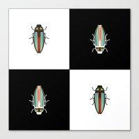 beetle Canvas Prints featuring Beetle  by Juliana Zimmermann