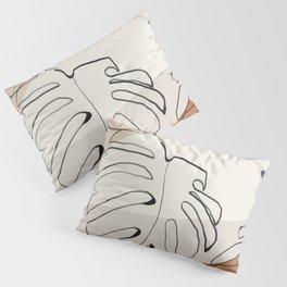 Minimal Abstract Art- Monstera Pillow Sham