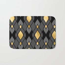 Sexy and Sultry Art Deco Geometric Pattern Bath Mat