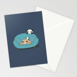 Kawaii Panda and Sloth Stationery Cards