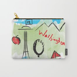 City scape - Seattle, Washington Carry-All Pouch