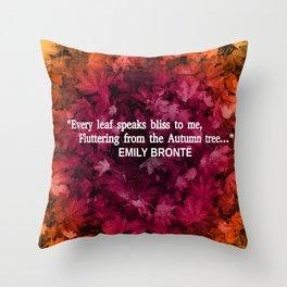 Autumn Literature Quotes Throw Pillow