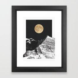golden moon Framed Art Print
