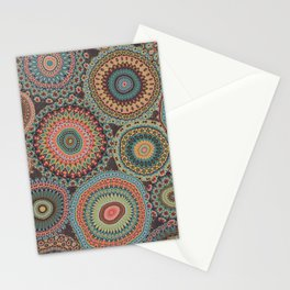Boho Patchwork-Vintage colors Stationery Cards
