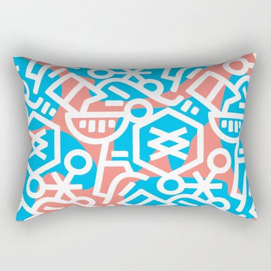 Never Not Hungry Rectangular Pillow
