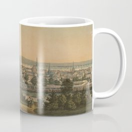 Vintage Pictorial Map of Montreal Canada (1860) Coffee Mug