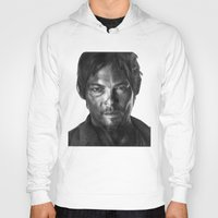 daryl Hoodies featuring Daryl Dixon by Mike Robins