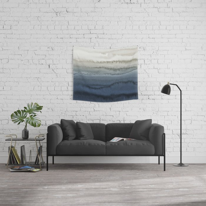 WITHIN THE TIDES - CRUSHING WAVES BLUE Wall Tapestry
