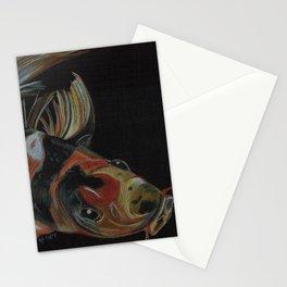 Koi fish on black Stationery Cards