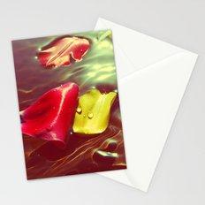 Lomo Vintage Flower Petals on Water Stationery Cards