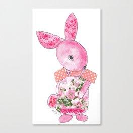 Girls Bunny  Canvas Print