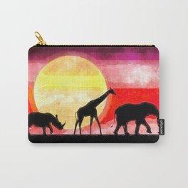 Elephant Giraffe Rhinoceros Carry-All Pouch