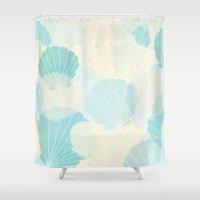 shells Shower Curtains featuring Shells by Karen Hischak