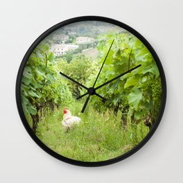 Why Did The Chicken Cross The Grape Vines? Wall Clock