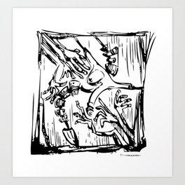 serie Cuerpos sin rostro Art Print