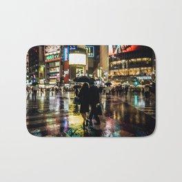 Love actually is all around - Rainy Night at Shibuyacrossing Bath Mat